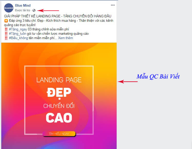 Dạng quảng cáo bài viết trên Facebook phù hợp nhất để kinh doanh các sản phẩm, dịch vụ