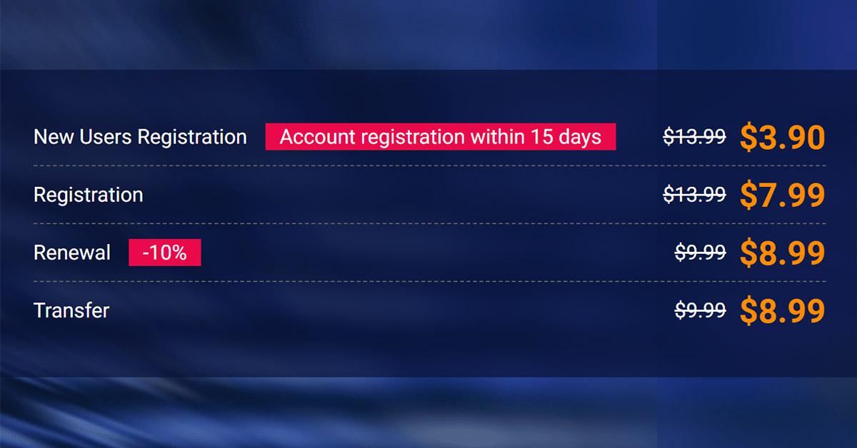 Tên miền .COM chỉ 3.90$ mua tại Alibaba Cloud