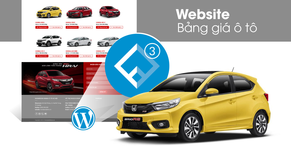 Website bảng giá ô tô